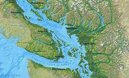 Salish Denizi Gizemi ve sahile uran ayaklar